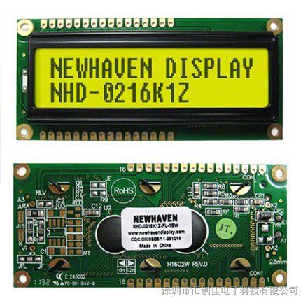 汇创佳电子分销NHD-0216K1Z-FL-YBW