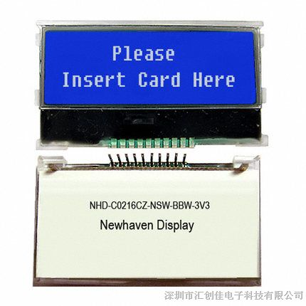汇创佳电子分销NHD-C0216CZ-NSW-BBW-3V3